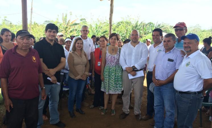 Sector Crucitas con proyectos de desarrollo sostenible.