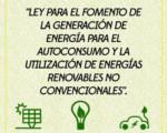 Fomento a energías renovables no convencionales.