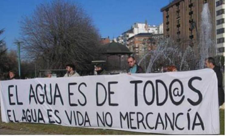¡NO a una Ley de Aguas para intereses privados!