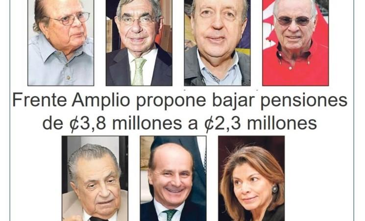 FA propone bajar pensiones a expresidentes.