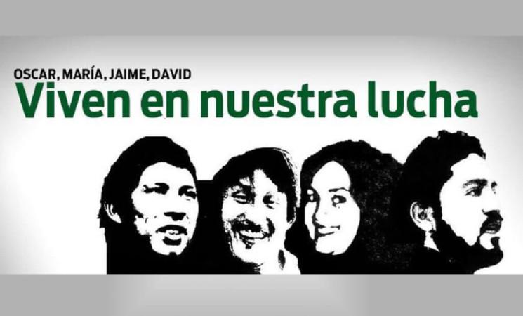 A Óscar, María del Mar, Jaime y David: ¡22 años en nuestras luchas!