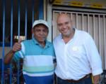 Edgardo Araya visitó zona norte del país